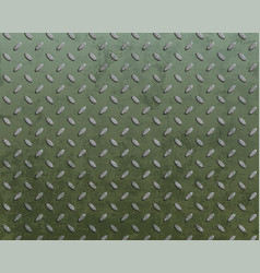 metal textured plate with pattern vector image