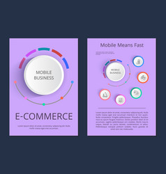 Mobile business e-commerce vector