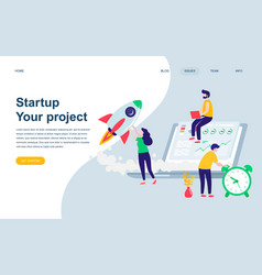modern flat web page design template vector image