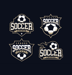 modern professional soccer logo set for sport team vector image