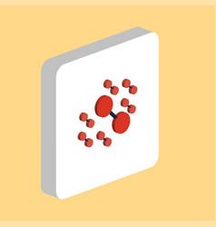 molecule computer symbol vector image