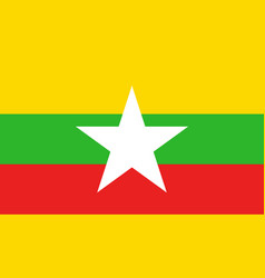 myanmar flag icon in flat style national sign vector image