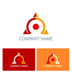 omega triangle company logo vector image