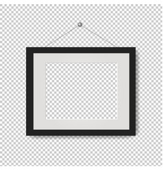 picture frame with transparent background vector image