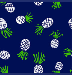 Pineapple seamless pattern background with summer vector