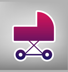 pram sign purple gradient vector image