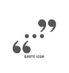 quote icon simple flat style vector image