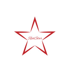 red star symbol vector image