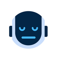 robot face icon sad face dissappointed emotion vector image