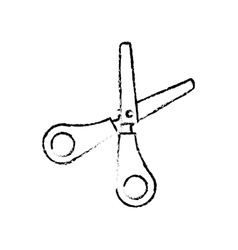 Scissor school utensil vector