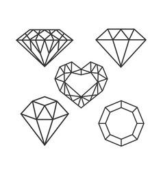 Set diamonds vector