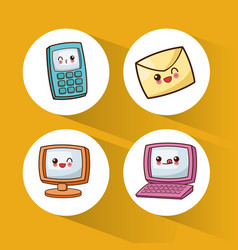 Set kawaii device technology communication vector