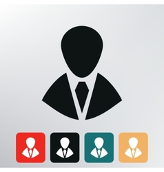 silhouette in a tie icon vector image