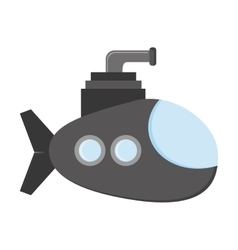 small submarine icon vector image