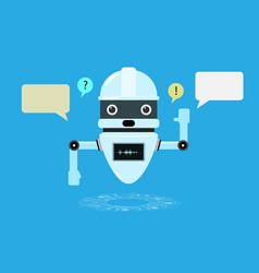 smart chatbot assistant conversation online vector image