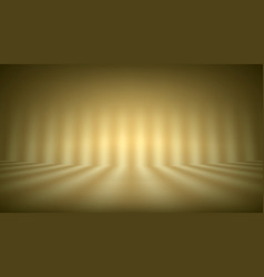 soft yellow photo studio strip lights room vector image