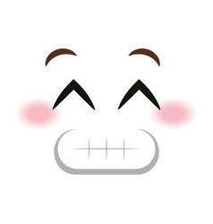 Sorry face emoticon kawaii style vector