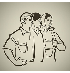 Soviet youth vector image