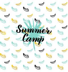 summer camp postcard design vector image