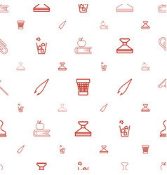 Supplies icons pattern seamless white background vector
