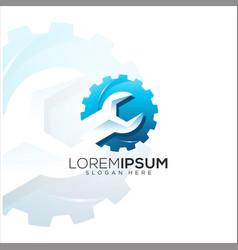 tool repair logo vector image