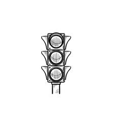 traffic light hand drawn outline doodle icon vector image