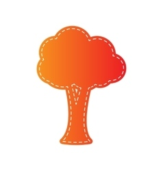 Tree sign Orange applique isolated vector image vector image