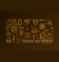 trick or treat horizontal modern colored vector image