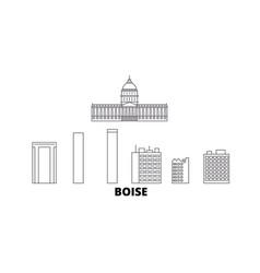 United states boise line travel skyline set vector