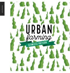 urban farming and gardening pattern vector image