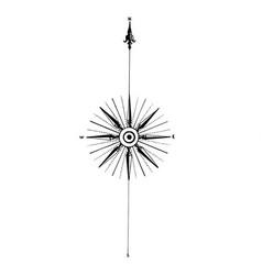 vintage compass wind rose icon logo design vector image