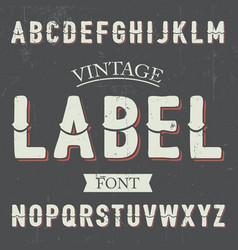 Vintage label font poster vector