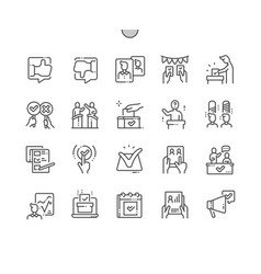 voting well-crafted pixel perfect vector image
