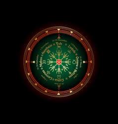 Wheel year wicca annual seasonal festivals vector
