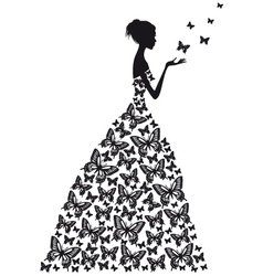 Butterfly woman vector