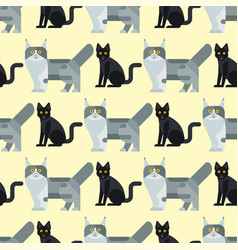 cats cute animal seamless vector image vector image