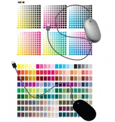 color chart vector image vector image