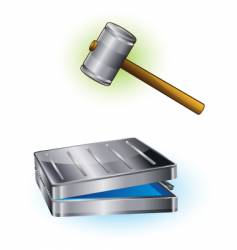 hammer and case vector image