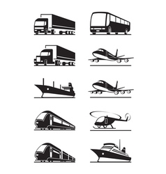 Passenger and cargo transportations vector image vector image
