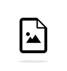 Photo file icon on white background vector image