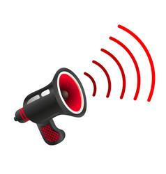 retro black megaphone vector image vector image