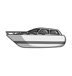 white motor boat to transport a few peopleone of vector image