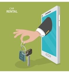 Online rental car service flat concept vector image