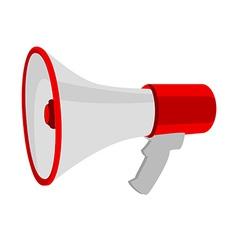 Red megaphone vector image