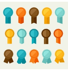 Set of colored badges labels awards in flat design vector image vector image