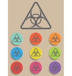 Warning symbol biohazard vector image