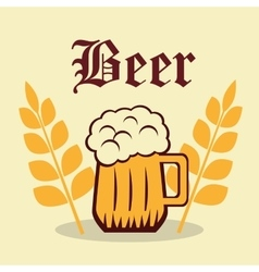 Beer product design vector image