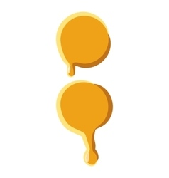 Colon from honey icon vector