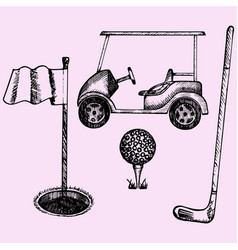 golf equipment vector image