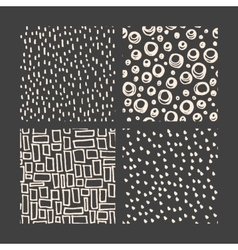 Hand drawn pattern collection vector image